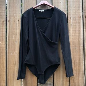 Madewell wrap body suit